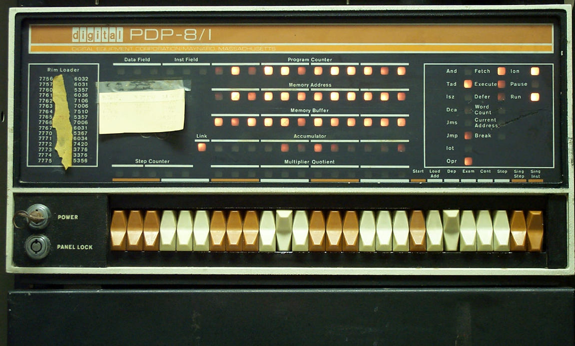 Pdp 8 I Picture Front Panel